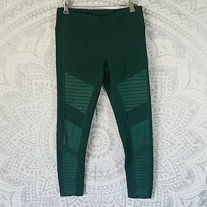 Alo Yoga emerald moto legging size Medium